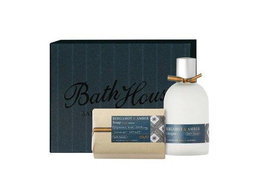 Bath House Cadeauset Bergamot & Amber - Cologne