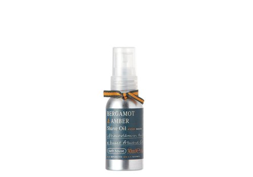 Bath House Scheerolie 30ml Bergamot & Amber