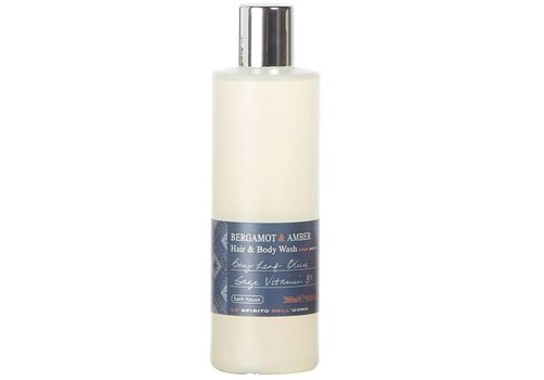 Bath House Hair & Body Wash 260ml Bergamot & Amber