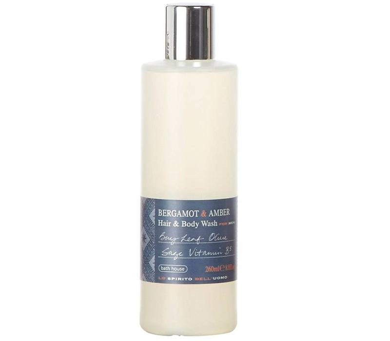Hair & Body Wash 260ml Bergamot & Amber