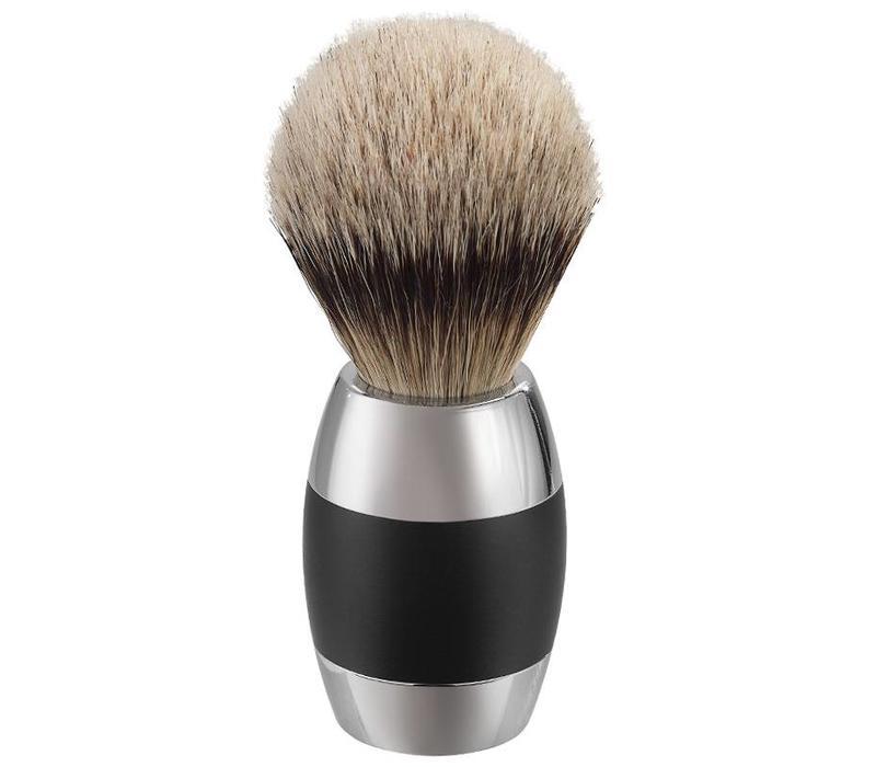Scheerkwast Silvertip Dassenhaar- Zwart Chroom