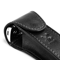 Lederen etui voor safety razor - Zwart