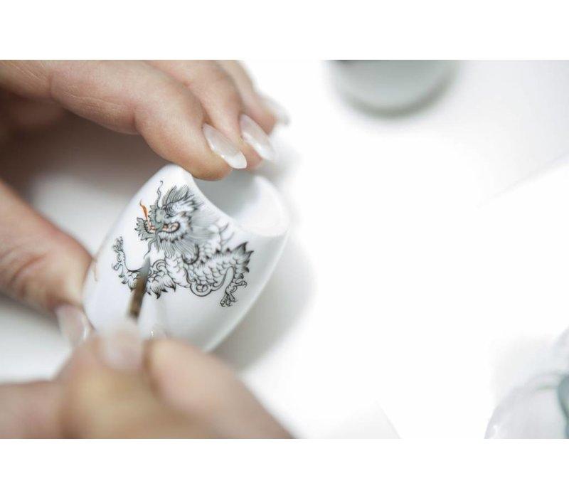 Scheerkwast Silvertip Dassenhaar - Meissen Porselein