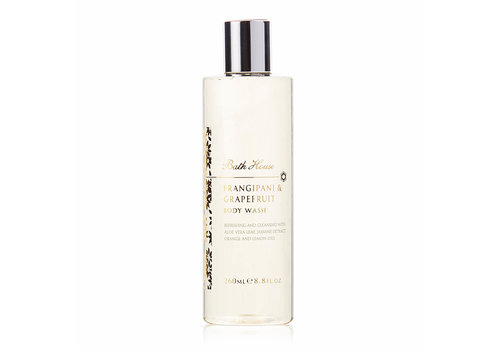 Bath House Body Wash 260ml Frangipani & Grapefruit