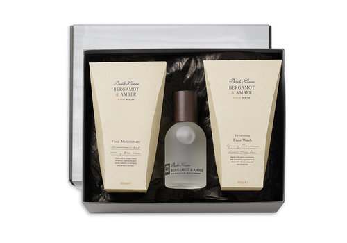 Bath House Cadeauset Face Care Bergamot & Amber