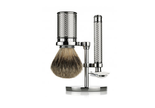 Baxter of California Scheerset Silvertip Dashaar - Chroom