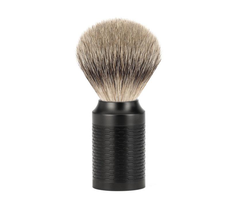 Scheerkwast Silvertip Dassenhaar - Zwart/ DLC Coating