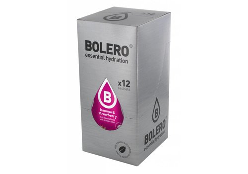 BOLERO Banaan & Aardbei 12 stuks met Stevia