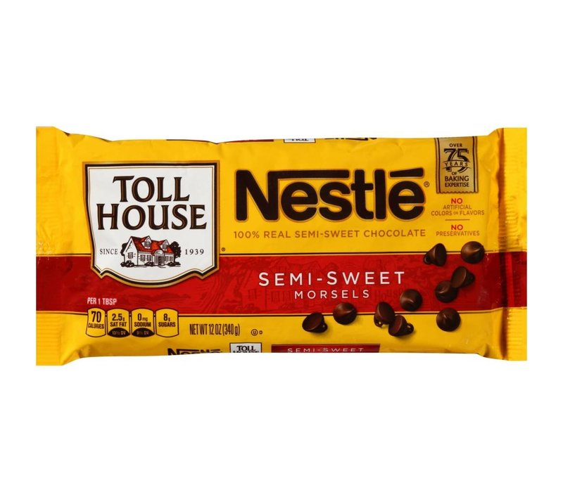 SEMI-SWEET CHOCOLATE MORSELS 12oz (340g)