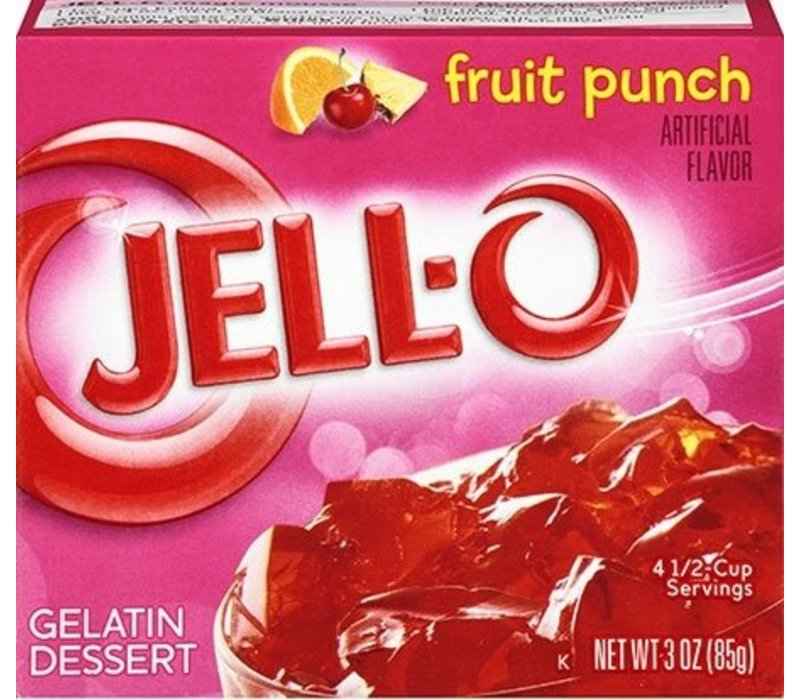 FRUIT PUNCH GELATIN 3oz (85g)