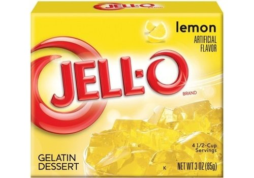 JELL-O LEMON GELATIN 3oz (85g)