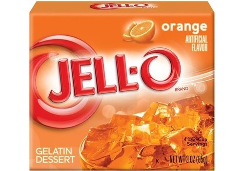 JELL-O ORANGE GELATIN 3oz (85g)