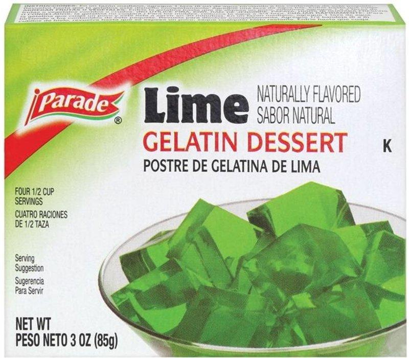 GELATIN LIME 3oz (85g)