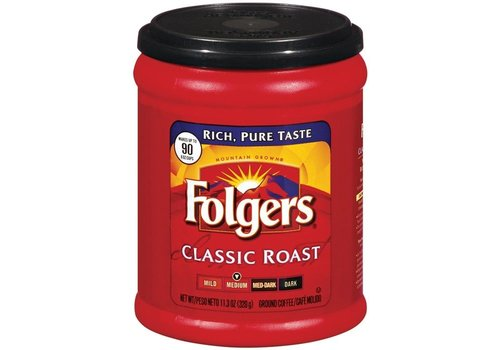 FOLGERS CLASSIC ROAST GROUND COFFEE 11Z