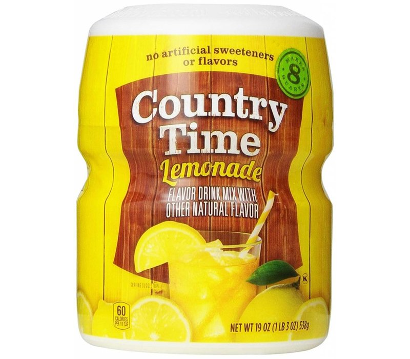 COUNTRY TIME SWT LEMONADE DRINK MIX 8QT 19oz (538g)
