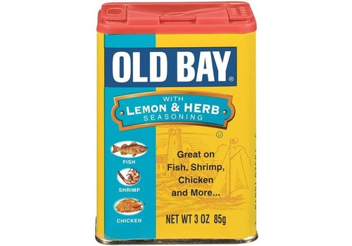McCORMICK OLD BAY LEMON & HERB SEASONING 3oz (85g)