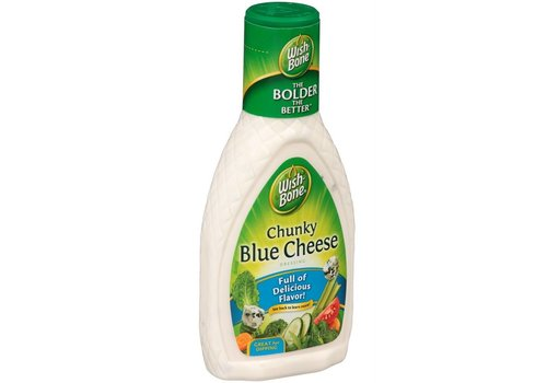 WISHBONE CHUNKY BLUE CHEESE SALAD DRESSING 8oz (237ml)