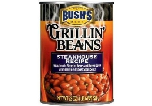 BUSH'S GRILLIN BEANS STEAKHOUSE RECIPE 22oz (624g)
