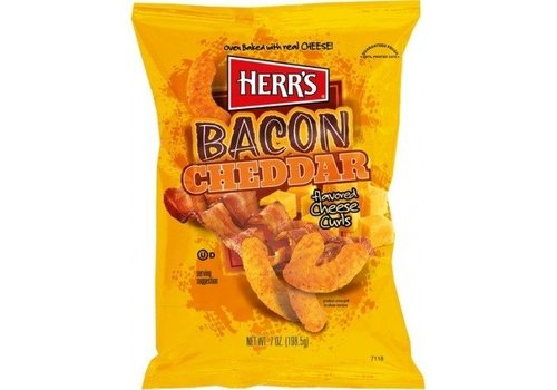 HERR'S BACON CHEDDAR CHEESE CURLS 7oz (198.5g)