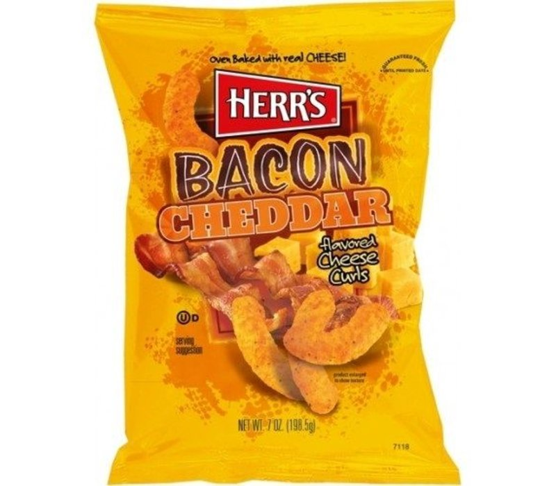 BACON CHEDDAR CHEESE CURLS 7oz (198.5g)