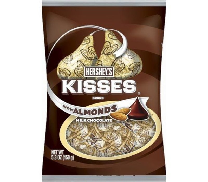 KISSES ALMONDS MILK CHOCOLATE 5.3oz (150g)