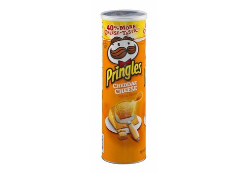 PRINGLES CHEDDAR CHEESE POTATO CRISPS 5.5oz (158g)