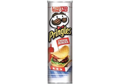 PRINGLES CHEESEBURGER POTATO CRISPS 5.5oz (158g)