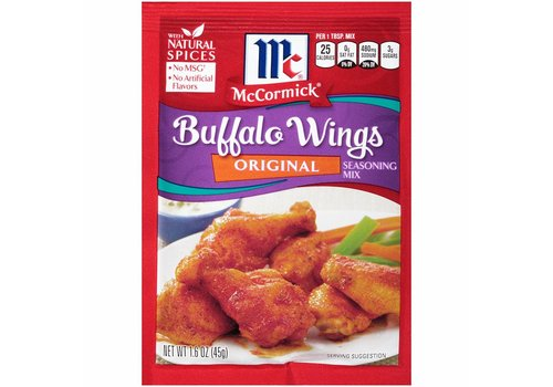 McCORMICK ORIGINAL BUFFALO WING MIX 1.6oz (45g)