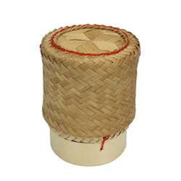 """Bamboo Basket for Sticky Rice  3.5"""""""