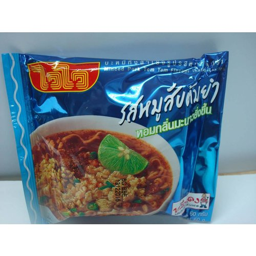 Wai Wai Instant Noodle -Minced Pork Tom Yum  60g