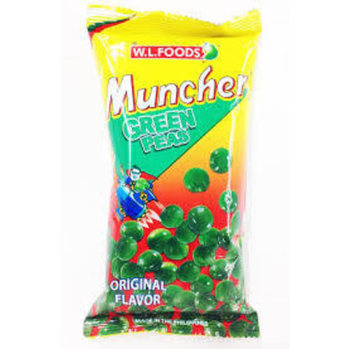 Muncher Green Peas Original 70g Best Before 01/19