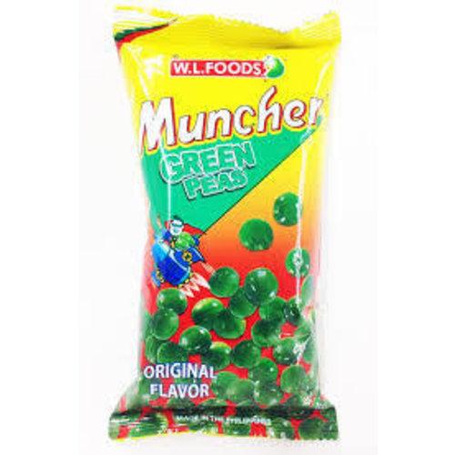 Muncher Green Peas Original 70g Best Before 01/19