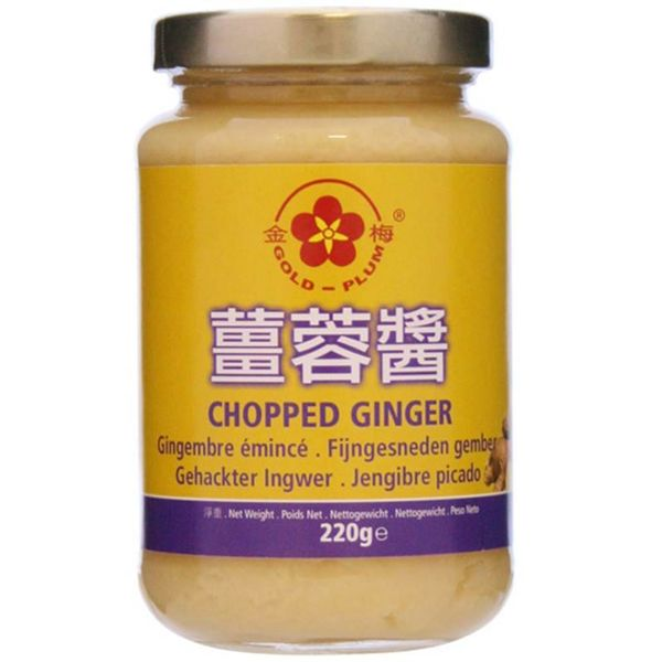 Gold Plum Chopped Ginger 220g