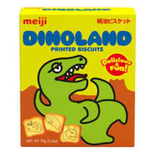 Meiji Printed Biscuit-Dinoland  70g Best Before 03/19
