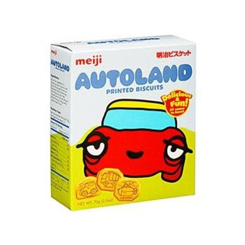 Meiji Printed Biscuits -Autoland 70g Best Before 08/18