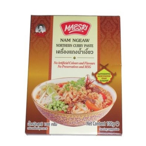 Maesri Curry Paste - Nam Ngeaw Northern Thai Curry Paste 100g