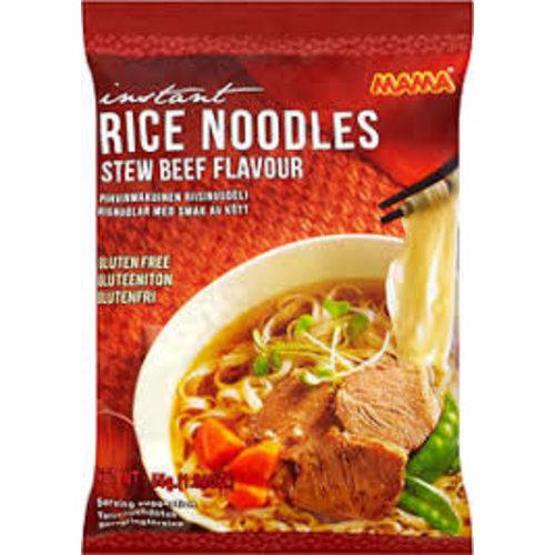 Mama Rice Noodles Stew Beef  Gluten free 55g