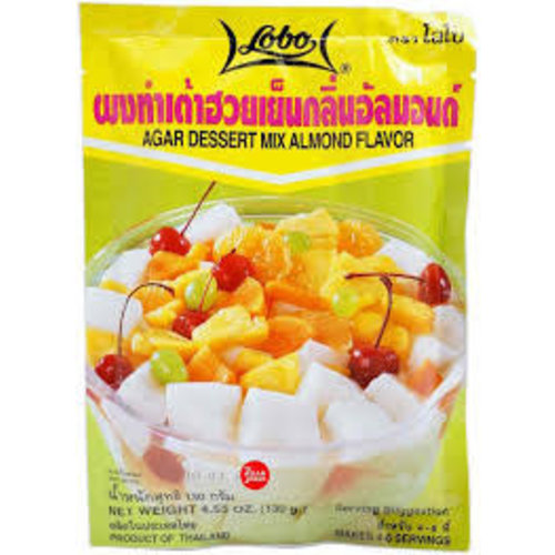 Lobo Agar Dessert  Mix  Almond Flavour 130g