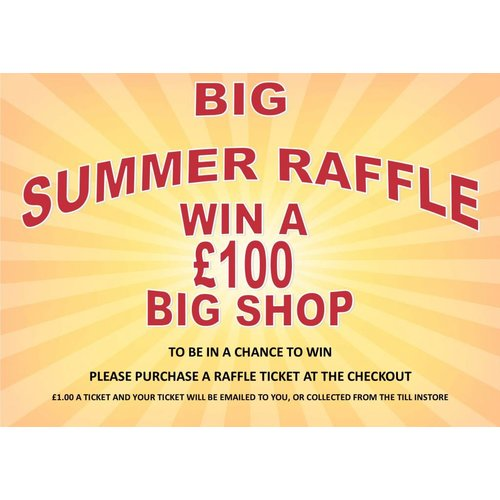 Big Summer Draw Raffle Ticket