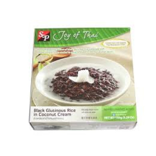 S & P Black Glutinous Rice in Coconut Cream 150g