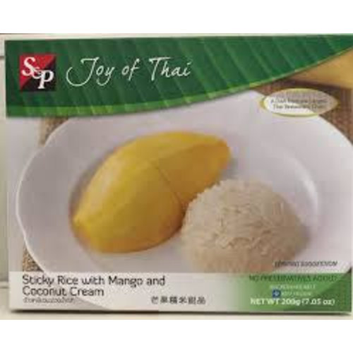 S & P Sticky Rice with Mango and Coconut Cream