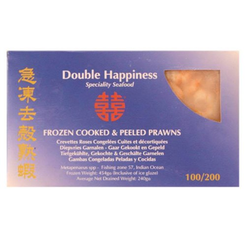Double Happiness Cooked & Peeled Prawns 240g