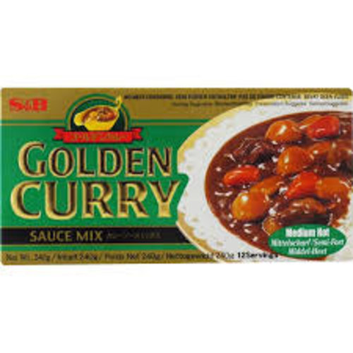 S & B Vegetarian Golden Curry Medium Hot 100g