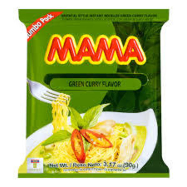 Mama Instant Noodles - Green Curry 90g