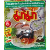 Mama Pre Cooked Rice Soup - Mushroom and Seaweed 50g Best Before 09/18