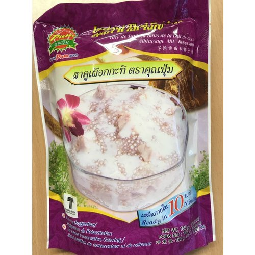 Madam Pum Instant Thai Tapioca Pearl with Taro 180g Best Before 12/19