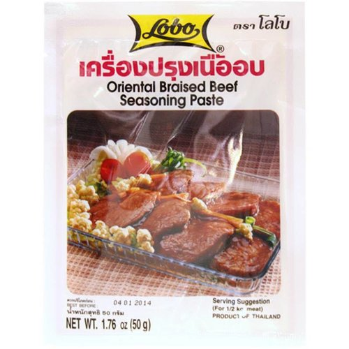 Lobo Oriental Braised Beef Seasoning Paste 50g (BBD 12/18)