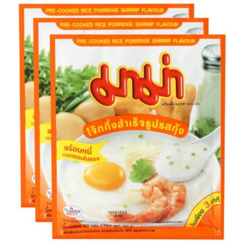 Mama Pre-Cooked Rice Porridge Shrimp Flavour 50g (Best Before Date 09/18)