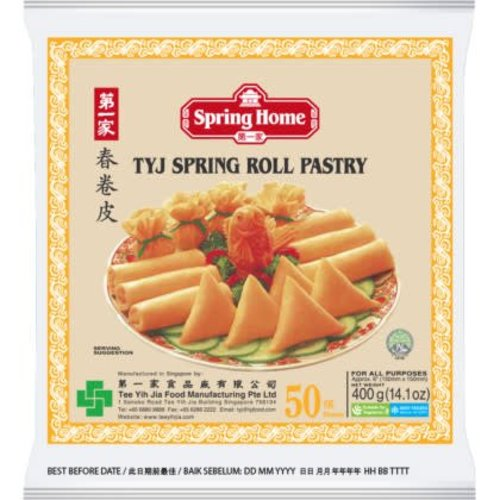 "Spring Home TYJ Spring Roll Pastry 6"" (50 Sheets) 400g"