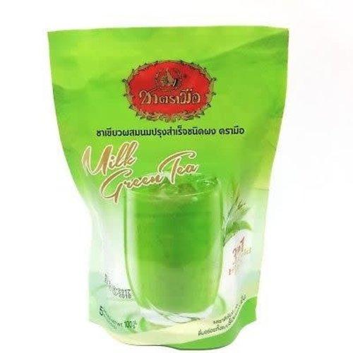Hand Brand Best Before Date 12/18 Milk Green Tea 100g
